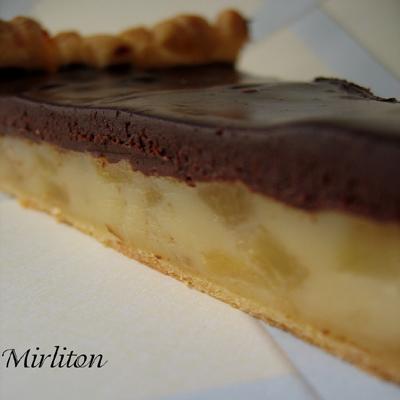 recette tarte fondante poire et chocolat 750g. Black Bedroom Furniture Sets. Home Design Ideas