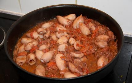 Recette encornets la tomate 750g - Cuisiner des encornets ...