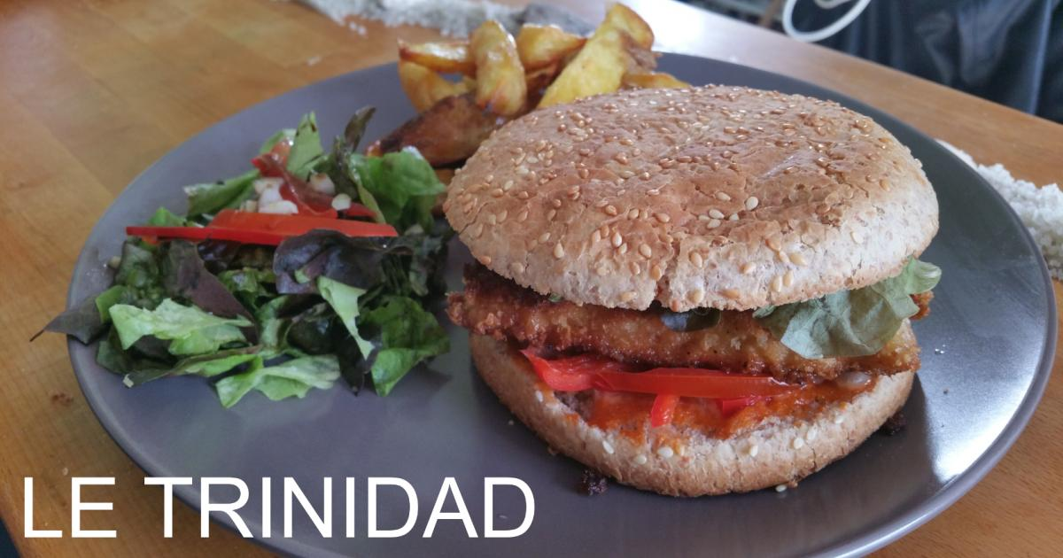 recette le trinidad burger au poulet chorizo poivrons et sauce porto 750g. Black Bedroom Furniture Sets. Home Design Ideas