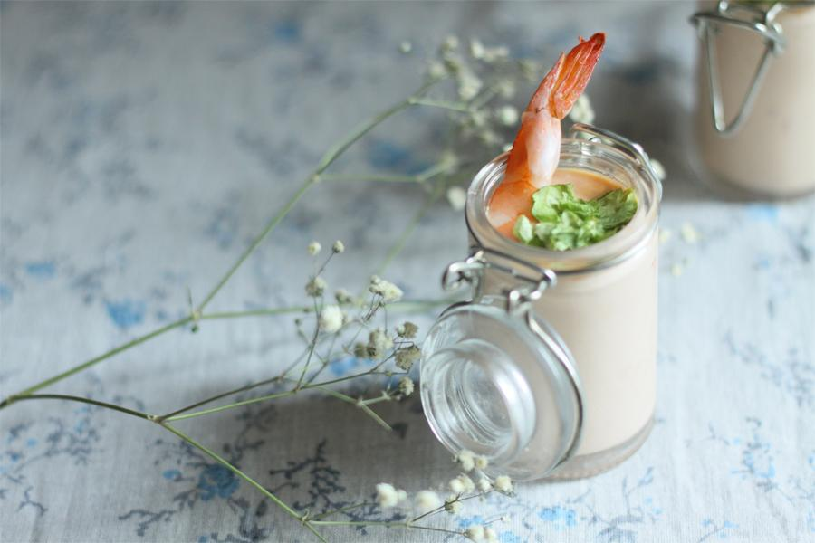 recette verrines de crevettes et sauce cocktail maison. Black Bedroom Furniture Sets. Home Design Ideas