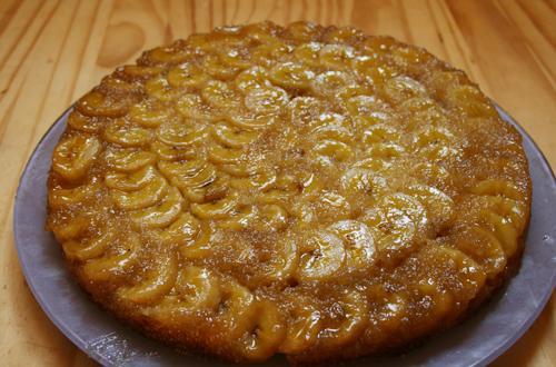 Recette - Gâteau tatin à la banane et au citron vert   750g
