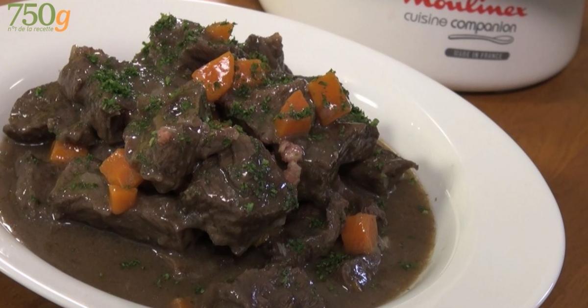 Recette b uf bourguignon fa on cuisine companion 750g for Cuisine 750g