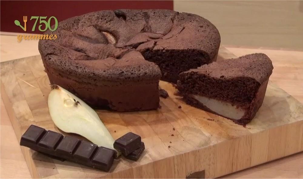 Gateau poire banane chocolat