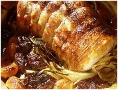 Recette r ti de porc aux abricots 750g - Cuisiner un roti de boeuf au four ...