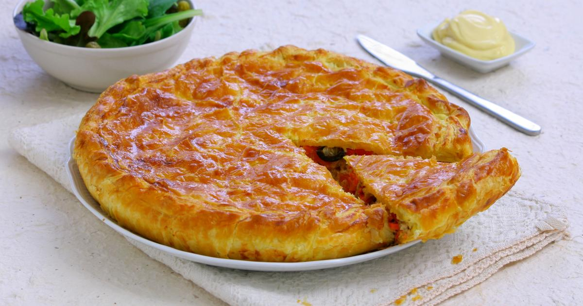 recette tourte proven ale au thon l gumes d 39 t et mayonnaise de dijon 750g. Black Bedroom Furniture Sets. Home Design Ideas