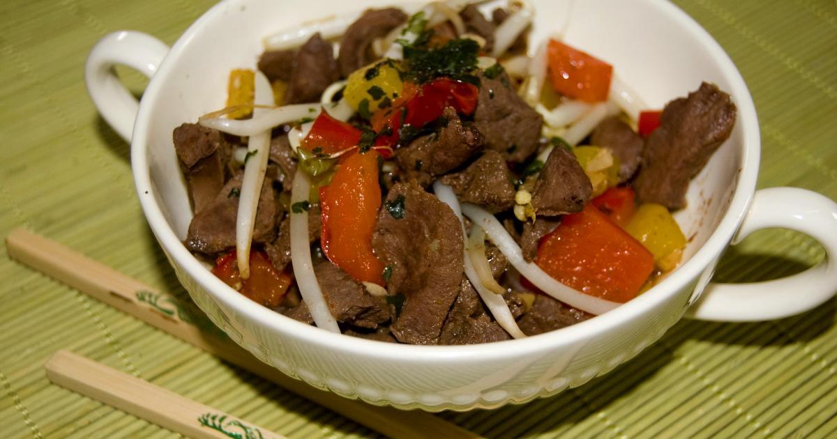 Recette wok de coeur de boeuf 750g - Cuisiner le coeur de boeuf ...