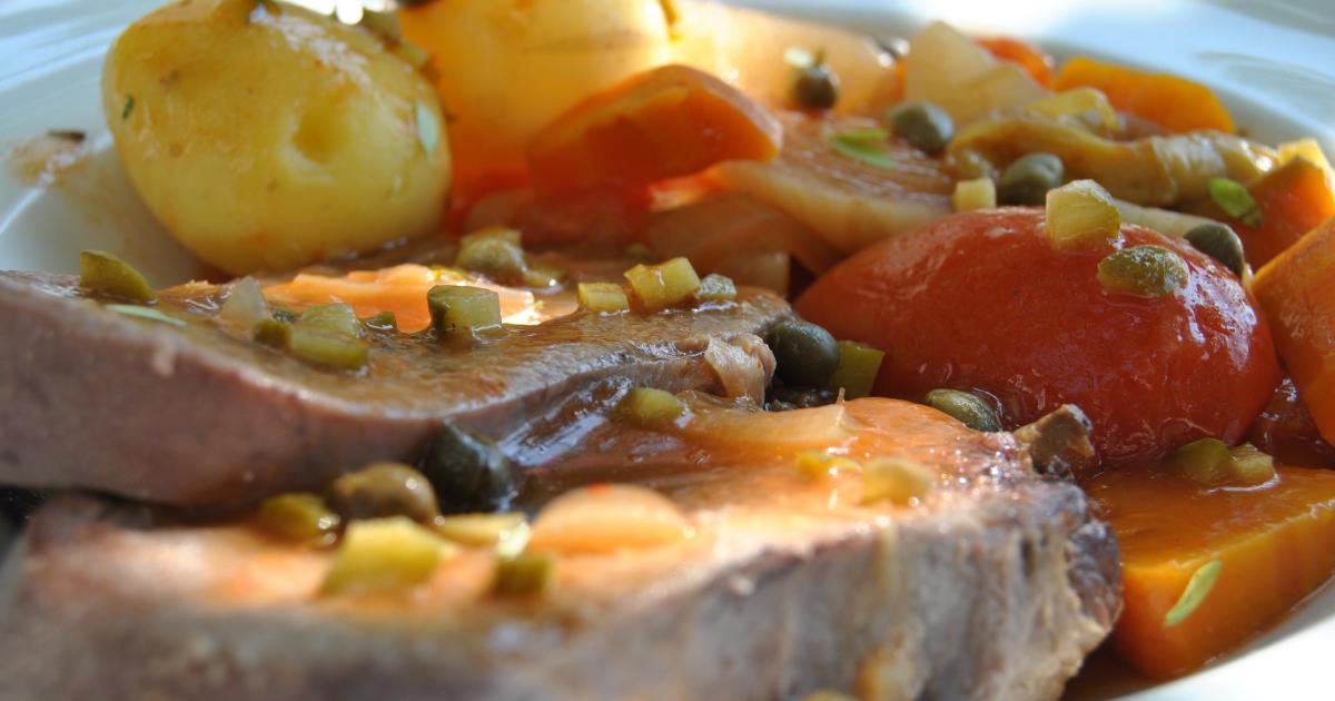 Recette langue de boeuf la sauce piquante et c pres 750g - Cuisiner une langue de boeuf ...