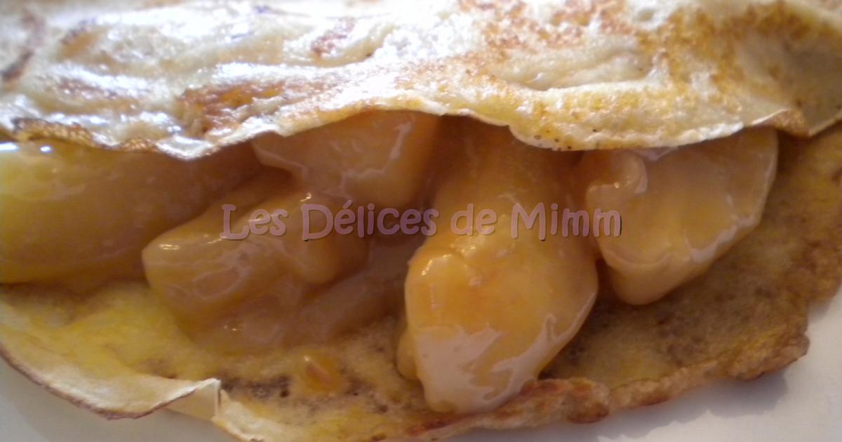 Recette cr pes gourmandes aux pommes 750g - Recette crepe gourmande ...
