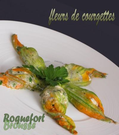 recette fleurs de courgettes farcies au roquefort et la brousse 750g. Black Bedroom Furniture Sets. Home Design Ideas