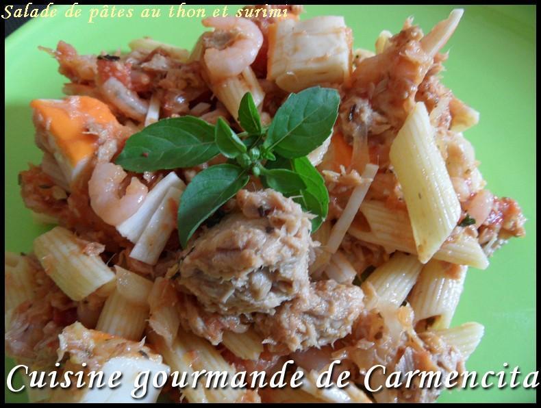 Recette Salade De Pates Au Thon Et Surimi 750g