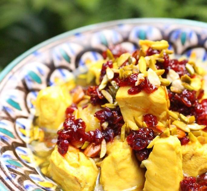 Recette Poulet à Liranienne Aux Baies Dépinevinette G - Cuisine iranienne