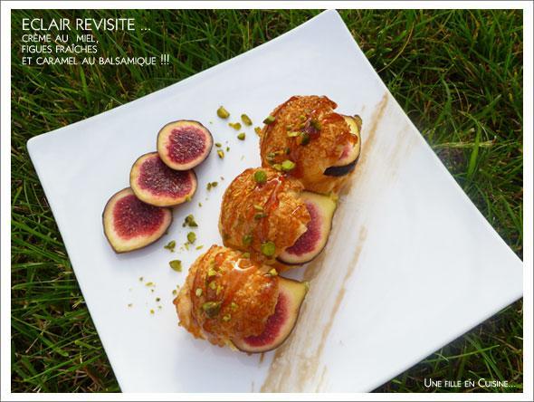 Recette eclair cr me l g re au miel figues fra ches et - Cuisiner des figues fraiches ...