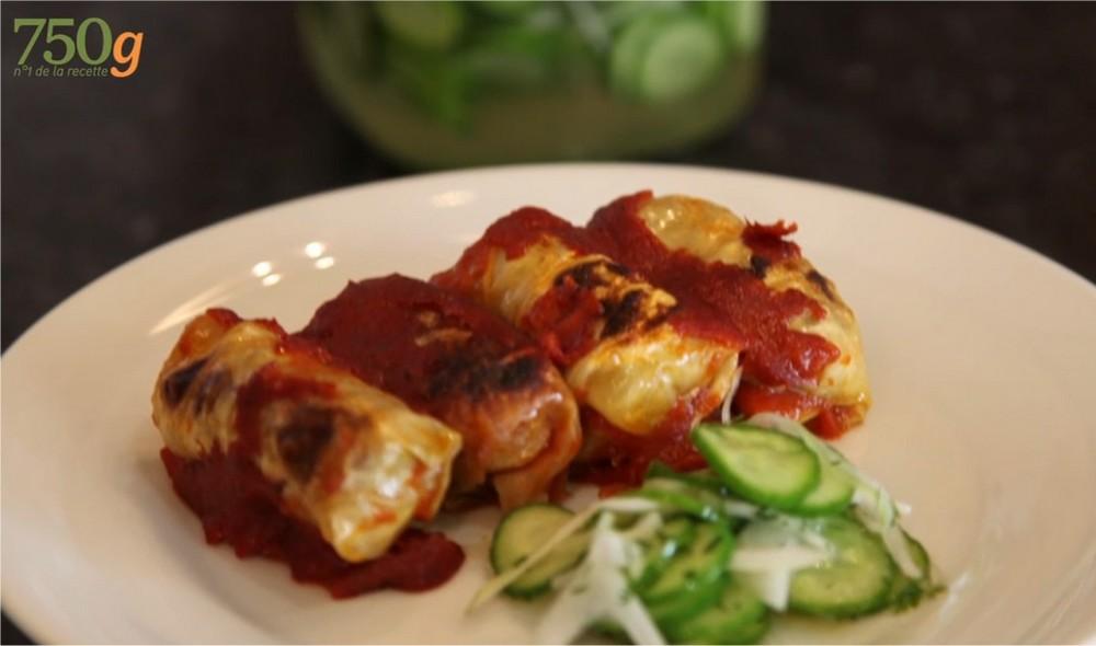 Recette gratin de choux farcis la sauce tomate 750g for Documentaire cuisine gastronomique