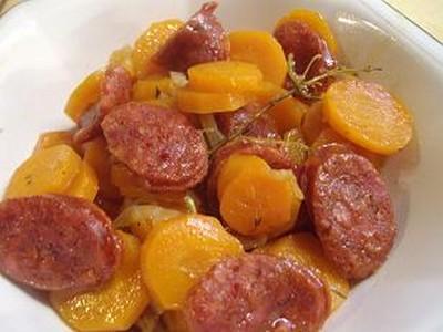 Recette carottes au chorizo 750g - Cuisiner des carottes a la poele ...
