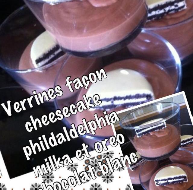 Recette - Verrines façon cheesecake philadelphia milka et ...