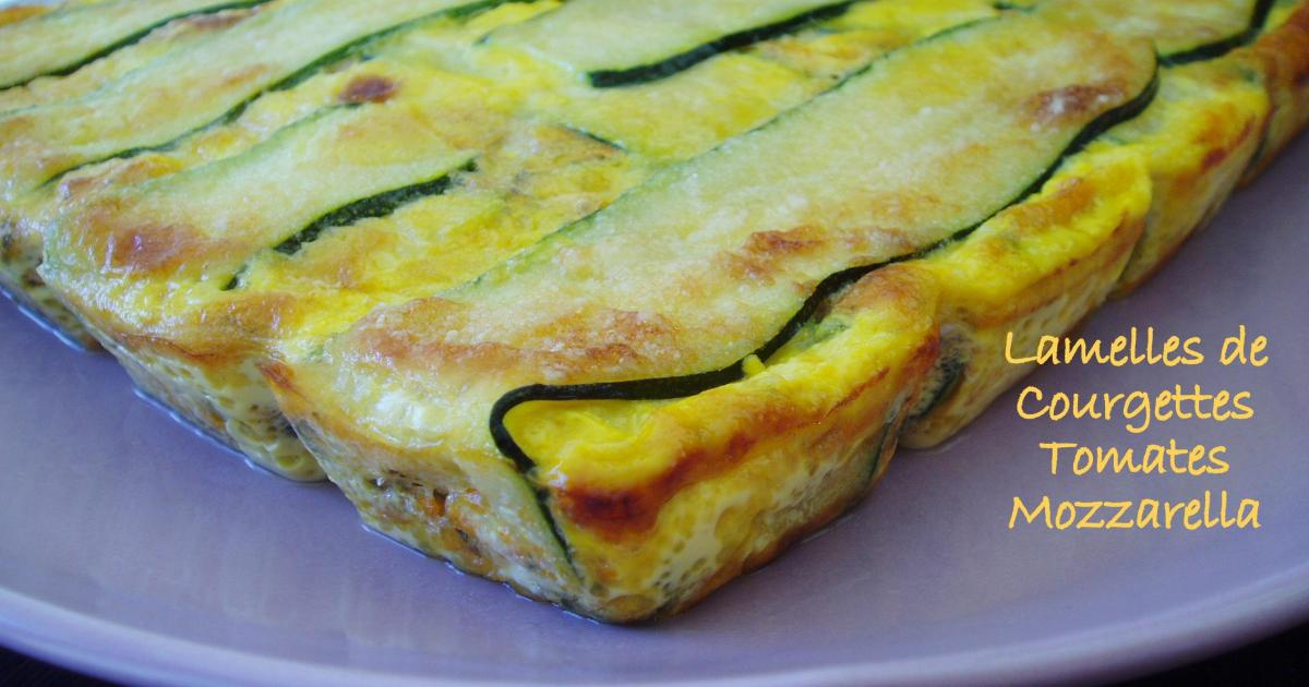 recette lamelles de courgettes farcies tomate mozzarella 750g. Black Bedroom Furniture Sets. Home Design Ideas