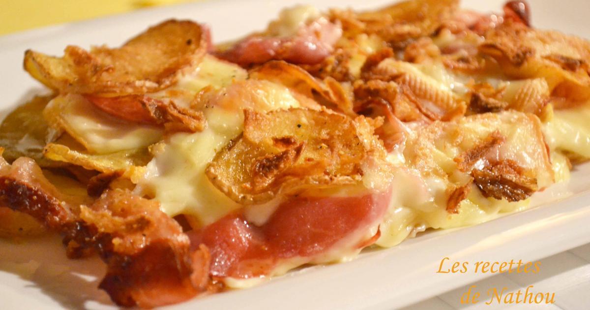 recette gratin de pommes de terre rissol es au lard fromage raclette et oignons frits 750g. Black Bedroom Furniture Sets. Home Design Ideas