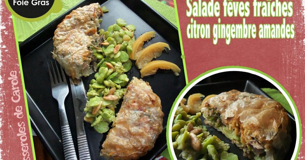 Recette pastilla de canard aux f ves fraiches et salade - Cuisiner les feves fraiches ...