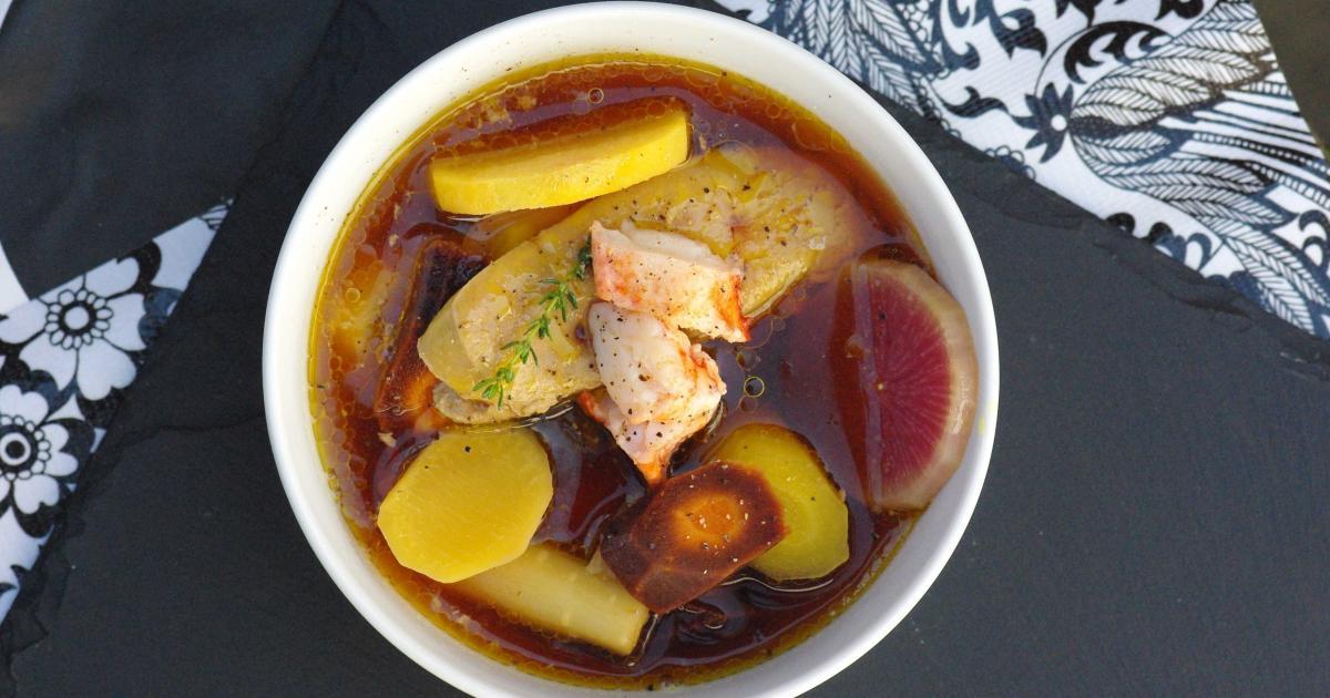 recette pot au feu de foie gras homard et l 233 gumes anciens 750g