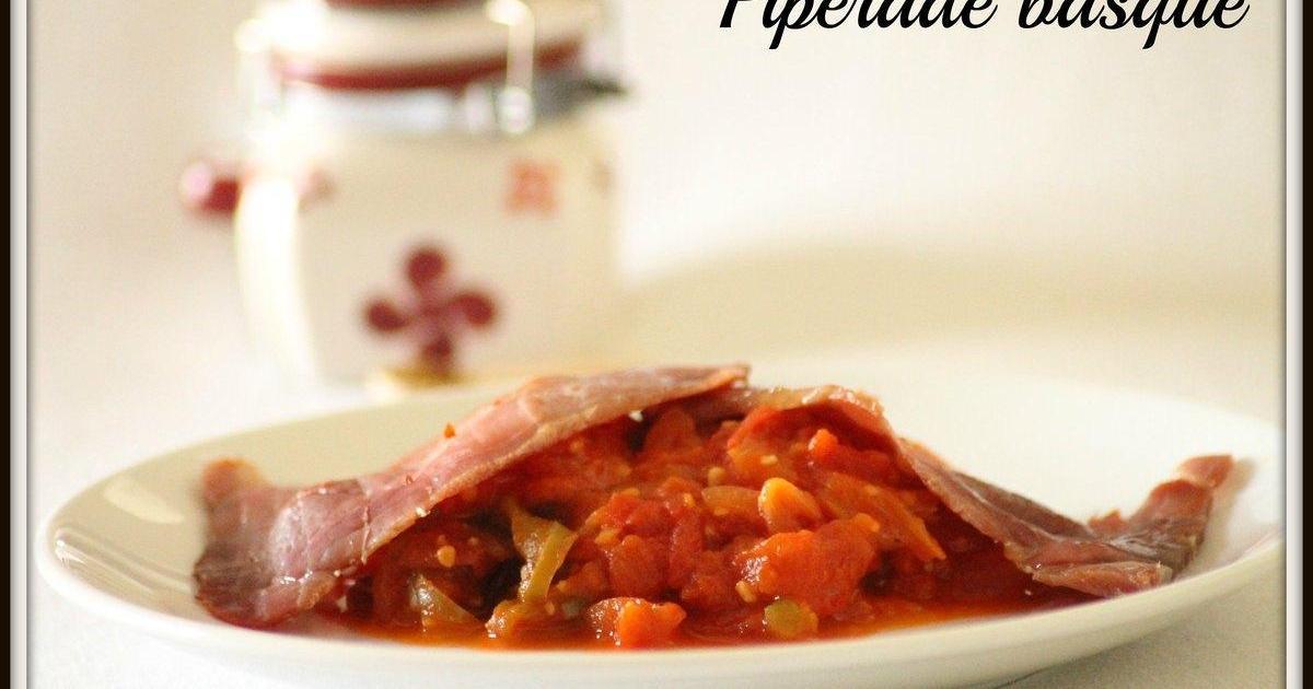 Recette piperade basque 750g - Cfa versailles cuisine ...
