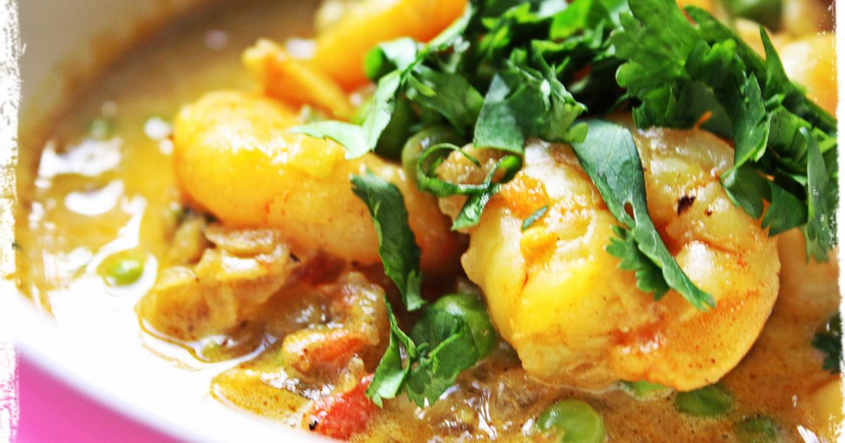 recette curry indien de crevettes au lait de coco 750g. Black Bedroom Furniture Sets. Home Design Ideas