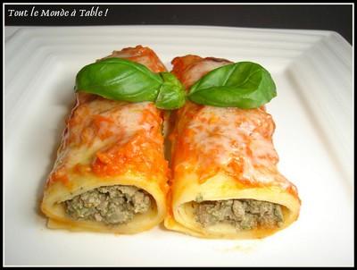 Recette cannellonis au boeuf ricotta et pinards 750g - Documentaire cuisine gastronomique ...
