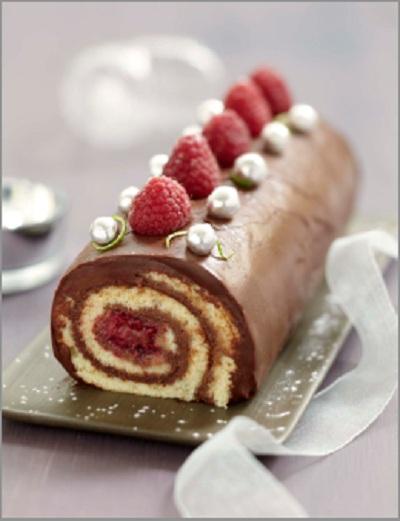 Recette b che roul e chocolat framboise coco et citron - Petit plat en equilibre buche de noel ...