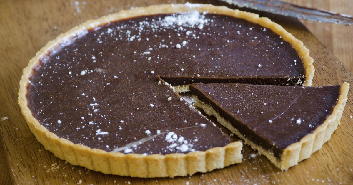 Chocolate Chestnut And Caramel Pie