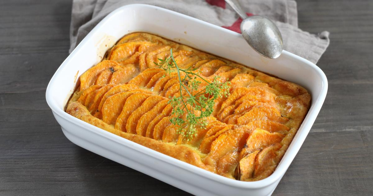 recette gratin de patate douce aux pices 750g. Black Bedroom Furniture Sets. Home Design Ideas