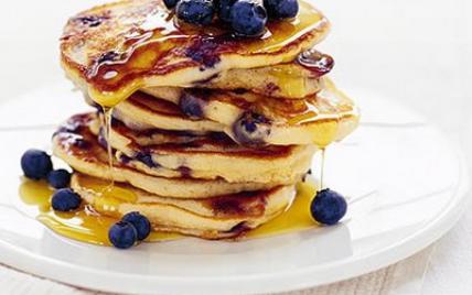 Recette blueberry pancakes 750g for Cuisine 750g