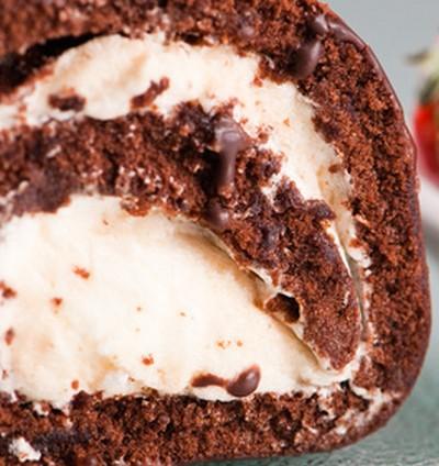 Buche Chocolat Poire Cake