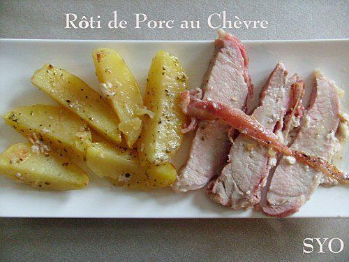 Recettes de r ti de porc au ch vre les recettes les - Cuisiner roti de porc ...