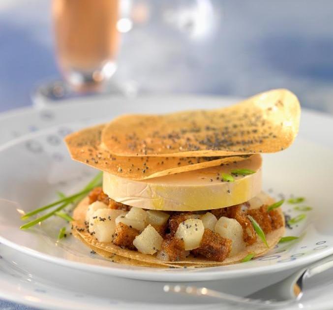 recette mille feuille de foie gras aux poires 750g