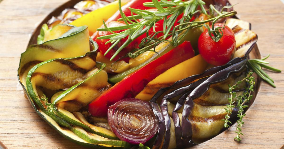 Recette salade de l gumes grill s 750g - Accompagnement sardines grillees barbecue ...