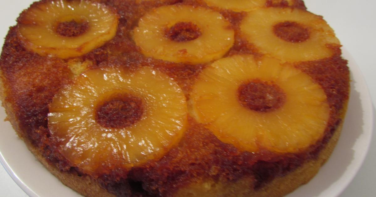Gateau avec de l ananas