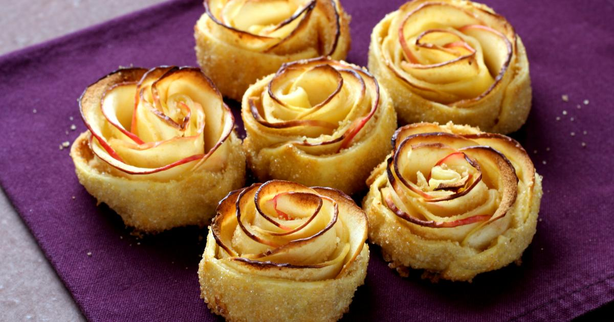 recette - mini-tartelettes fleurs de pommes en vidéo