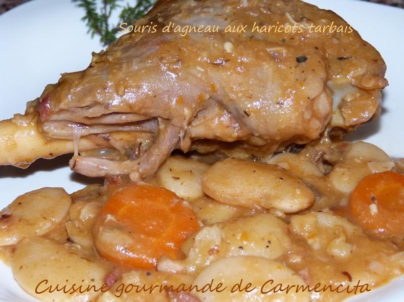 Recette souris d 39 agneau aux haricots tarbais 750g - Comment cuisiner un gigot d agneau ...