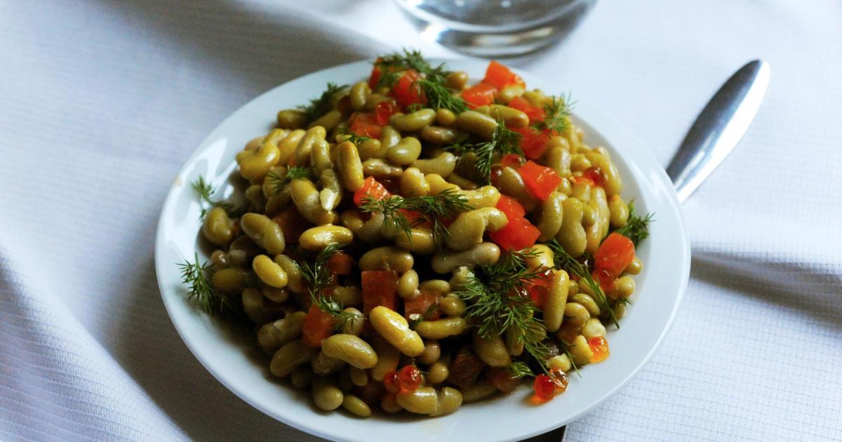 Recette salade de flageolets aux deux saumons et l - Cuisiner des flageolets ...