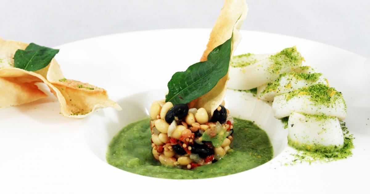 Recette Salade de légumineuses et gaspacho de courgettes
