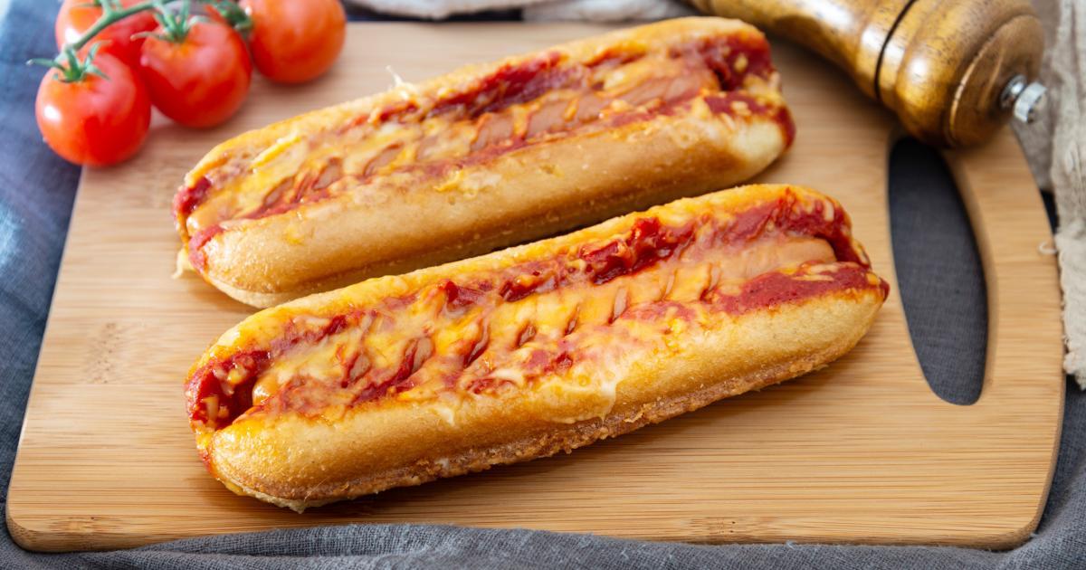 Hot dog gratinés