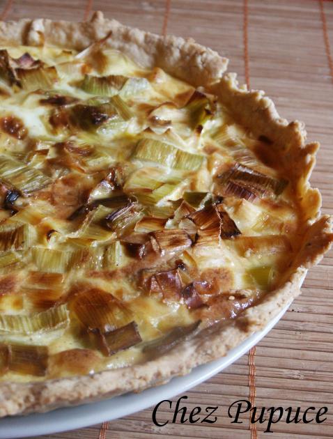 Recette tarte aux poireaux maison 750g - Tarte aux poireaux sans oeufs ...