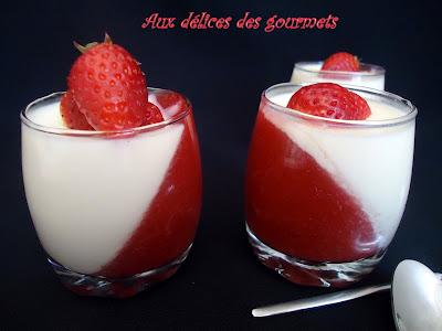 recette panna cotta au chocolat blanc et aux fraises 750g. Black Bedroom Furniture Sets. Home Design Ideas