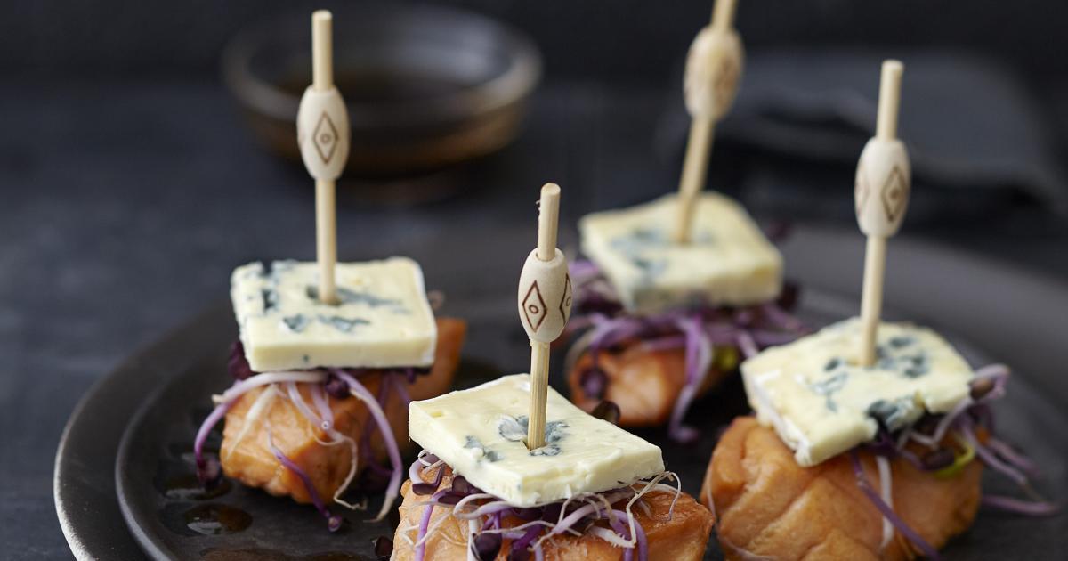 recette bouch es de saumon confit au soja bresse bleu. Black Bedroom Furniture Sets. Home Design Ideas