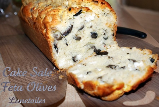 Recette cake sal feta olives 750g - Recette cake sale vegetarien ...