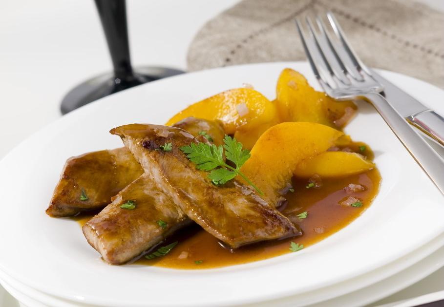Recette aiguillettes de canard aux p ches et caf 750g - Comment cuisiner aiguillettes canard ...