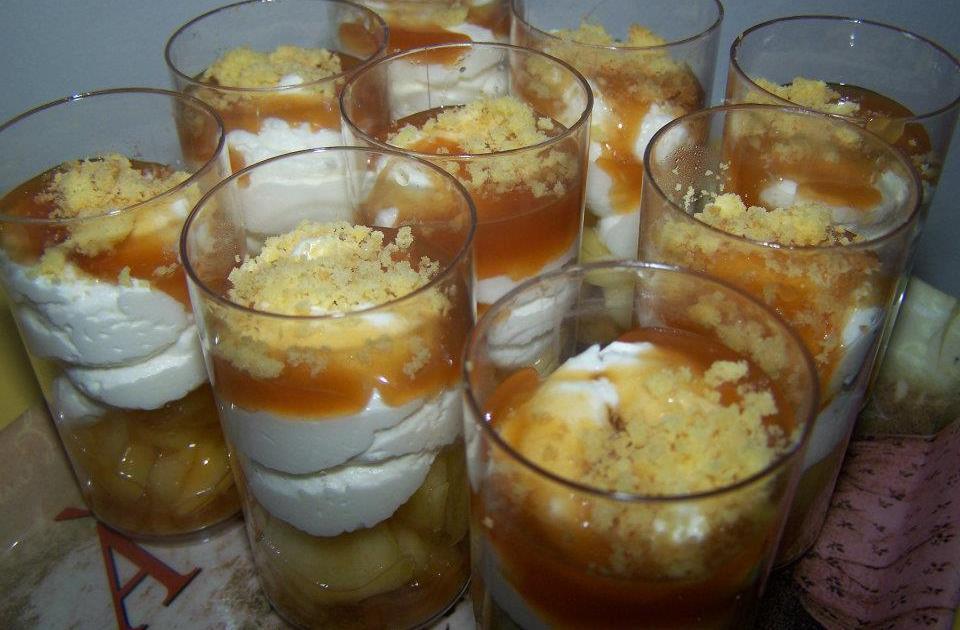 recette verrine pommes caramel et chantilly 750g