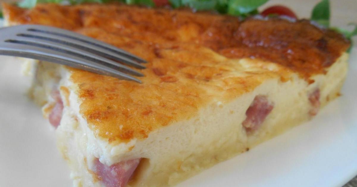recette quiche sans p 226 te jambon fromage 750g