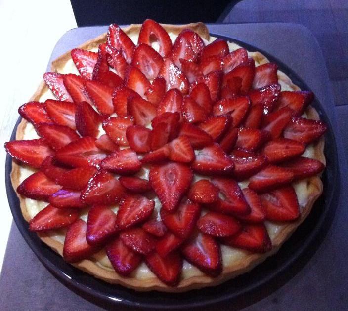 recette tarte aux fraises 750g