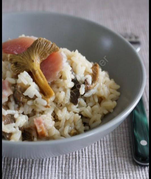 Recette risotto aux chanterelles et au jambon fum 750g - Cuisiner la chanterelle ...