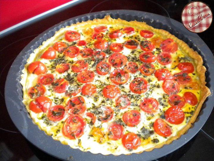 Recette tarte tomate cerise et mozzarella 750g - Cuisiner les tomates sechees ...